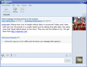 Yahoo Messenger spam
