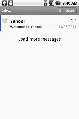 Yahoo! Mail in your android phone!