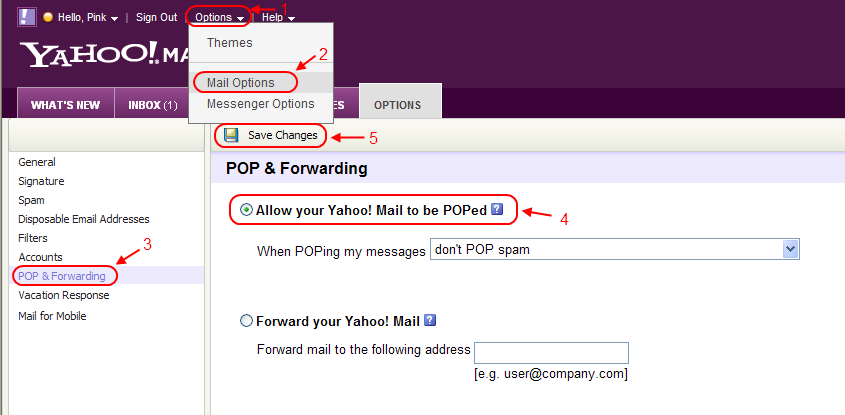 How to setup yahoo email on my mobile phone