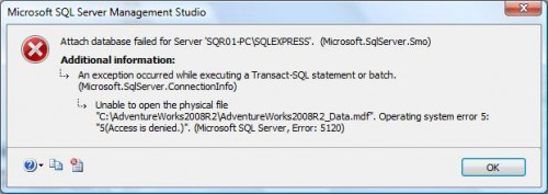 SQL Server - Access Denied