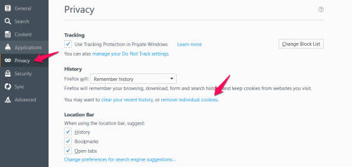 "Go to Privacy and click on ""remove individual cookies""."